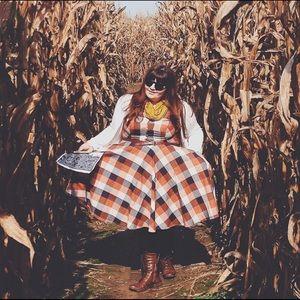 Eshakti fall plaid dress